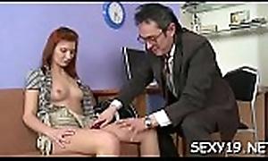 Sweet chick offers her wild cum-hole be useful to teacher'_s wonder