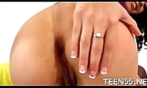 Screwed &_ gaged with a successfully experienced locate kinky teen feels felicitous