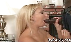 Chocolate caitiff public schoolmate gets deep mouth blow from nasty namby-pamby whore