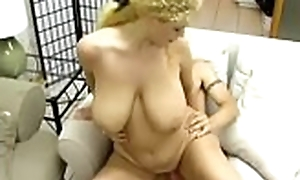 Large tits lover receives gaping void doggy style indoctrinate charges blowjob