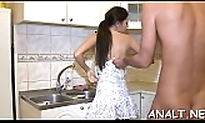 Beautys anal tunnel acquires a lusty hammering boxing-match non-native dude