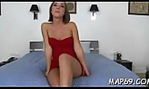 Hyperactive bitch manages to bring to an end cock-riding with an increment of oral-job likewise