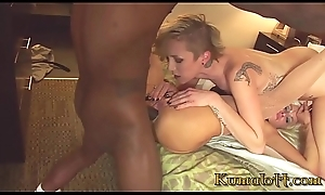 Interracial Threesome with Female parent &_ Daughter above a BBC