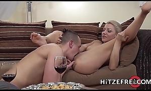 HITZEFREI Tight erection German festival gets her ass reamed