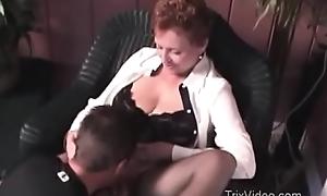 Granny Fucks will not hear of Lass
