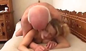 Old boy gets microwave-ready nicely away from a much younger slut