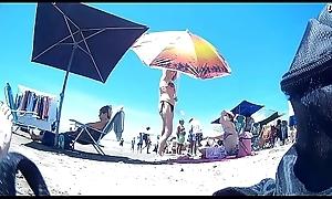 Hot milf on beach