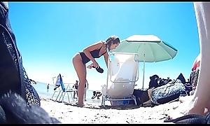 Hot mommy on seaside