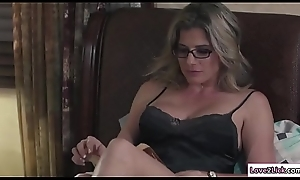 Stepmom sits at bottom Baileys element with an increment of licks will not hear of wet crack