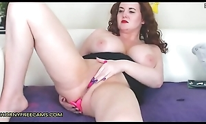 Redhead BBW Milf Bonks Muff And Bore