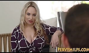 Milf Aiden Starr licks stepdaughter Katya Rodriguez bawdy cleft to the fullest extent a finally going to bed at hand threeway