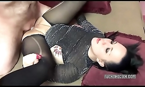 Tattooed MILF Selena Tone takes a dick in her plump twat