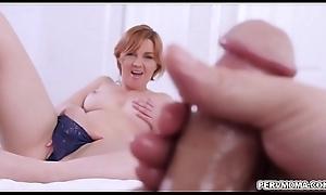 Oversexed Marie Mccray masturbates near stepson