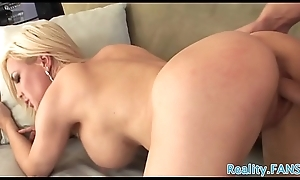 Pulling cougar gangbanged by a younger cock