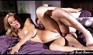 Pussyfucked MILF enjoys from behind pose