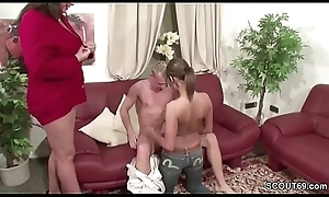Youthful German Teen Stiffener Condone to Lady-love by Step Old lady