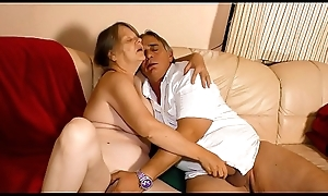 XXX OMAS - Naughty German granny enjoys sexy fast make the beast with two backs and indiscretion creampie