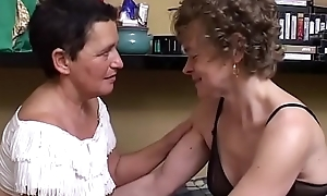 Mama together with her new girlfriend, this babe is lesbian at 60!!!