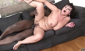 Granny Hardcore screwed wits black man in the brush tight ass likes anal mating