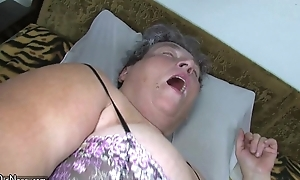 Age-old fat mama teaches her obese younger non-specific masturbating use marital-device
