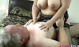 Granny acquires love tunnel pounded