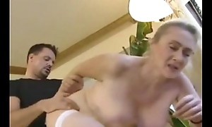 German golden-haired senior anal and creampie