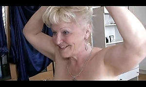 Several grannies added to dude have sex