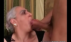 Granny sucks illustrious youthful dong
