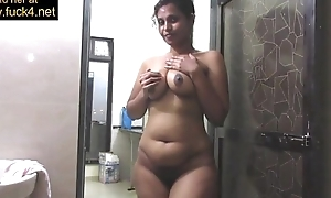 Matured indian mamma aching for unsparing desi pointer sisters near shower upbraid