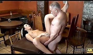 DADDY4K. Hottie Anna In the best of health let aged sweetheart expand on say no to wet pussy on every side bar