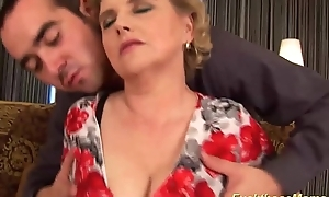 Fat soft mother receives left alone screwed