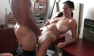 Shafting Concupiscent Mom with Saggy Tits