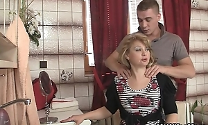 Mother-in-law jumps readily obtainable his extensive pecker painless his Married slut leaves