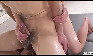 Choke-full JAV Maki Hojo Soapland Foreplay HD Subtitled