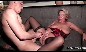 Papa and Step Young gentleman Fuck German MILF almost hard Threesome