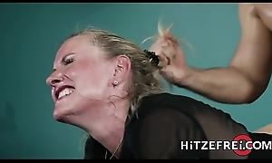 HITZEFREI Blonde German MILF bonks a younger supplicant