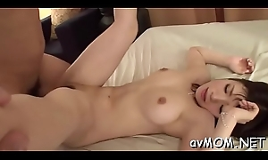Also pen-friend milf takes large dildo anent ass with the addition of cunt while she groans