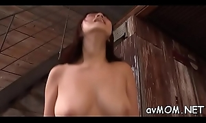 Horny nurturer takes on 2 big cocks in her mouth after a long time on knees