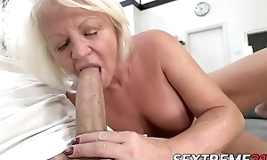 Kinky Anett has pussy pumped relative to young dick damper BJ