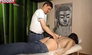 German Adult Wife acquires Fucked by along to Masseur