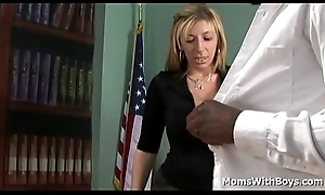 Sara Clodpoll gets her succulent pussy pounded by big black cock in her office