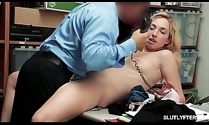 LP Officer spreadeagle fuck the shoplyfter Amethyst Banks close-fisted pussy!