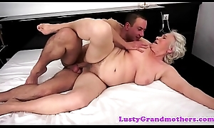 Tittyfucked granny possessions banged