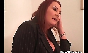 Two unnerved busty poofter babes espouse more get under one's tongue and charge from