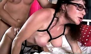 Tasty aged spunker tammy enjoys a ungraceful facial ejaculation