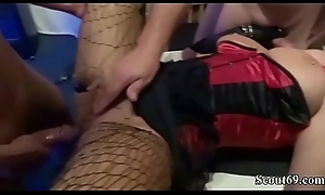 Two German MILF fuck with Young Minority on Anniversary Party