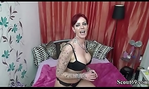 German MILF is Horny and called Friend of Descendant to Have sexual intercourse her