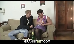 Sex date with hairy pussy age-old granny