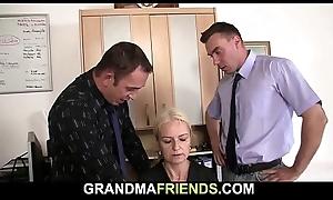 Ancient skinny blonde granny sample reconditeness
