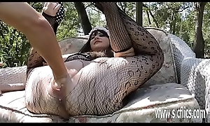 Double fisting and dildo fucking will not hear of successful snatch